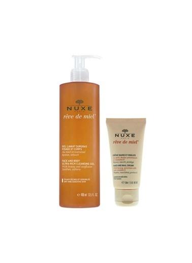 Nuxe Nuxe Gel Lavant Surgras 400ml + Hand Cream 50ml Set Renksiz
